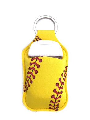 PREORDER - Softball Key Chain Hand Sanitizer Neoprene Holder