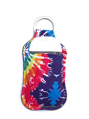 PREORDER - Tie Dye Key Chain Hand Sanitizer Neoprene Holder
