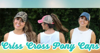 NEW CC Distressed Criss Cross Ponytail PonyCap (Asst. Colors) - The Hottest Cap Of The Season
