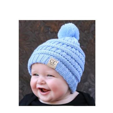 CC Baby Knit Pom Beanie in Solid Colors - BABY847P