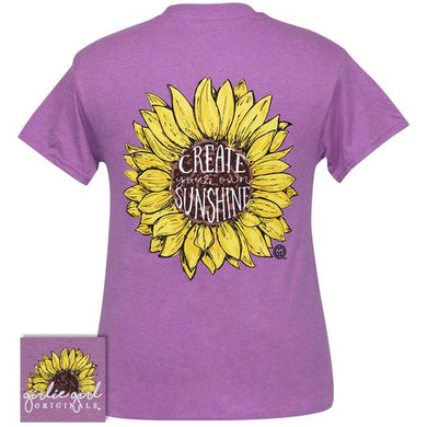 Girlie Girl Create Your Own Sunshine SS Tee - Heather Radiant Orchid