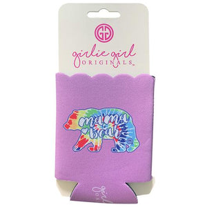 Mama Bear Tie Dye Drink Can Coolie Koozie by Girlie Girl Originals
