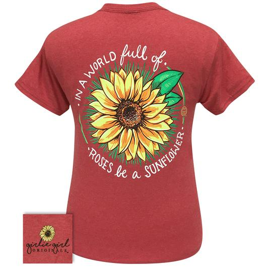 PREORDER - NEW Be A Sunflower Short Sleeve Tee Shirt - Also available In Store