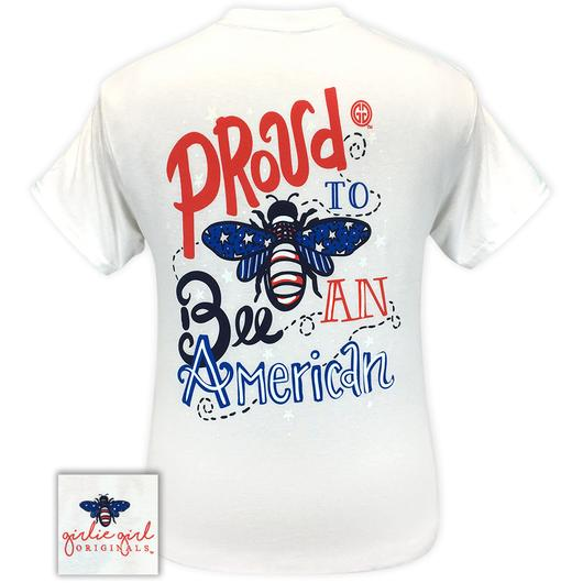 Proud To Be An American Short Sleeve Tee by GG