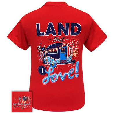 PREORDER  - Land That I Love Camper America Shirt by Girlie Girl Originals