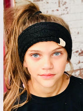 Load image into Gallery viewer, Kids CC Beanie Cable Knit Headband -Solid Colors HW20KIDS