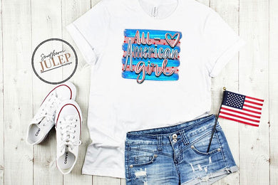 All American Girl SS Boutique Tee - Custom Printed Preorder Tees