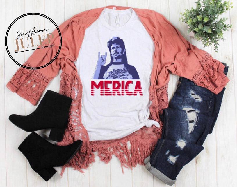 MERICA Joe Dirt Retro SS Boutique Tee - Custom Printed Preorder Tees