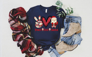 PREORDER-Peace Love Santa Boutique Soft Tee