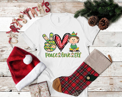 PREORDER-Peace Love Elf Boutique Soft Tee
