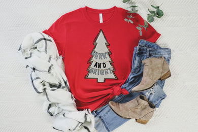 PREORDER-Merry And Bright Boutique Soft Tee