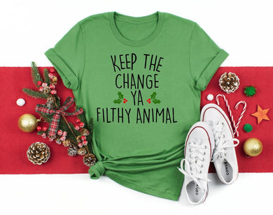 PREORDER-Keep The Change Ya Filthy Animal Home Alone Christmas Boutique Soft Tee