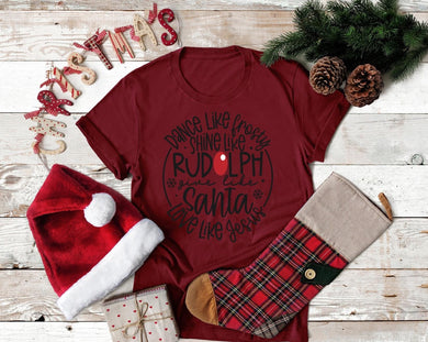 PREORDER-Dance Like Frosty Christmas Boutique Soft Tee