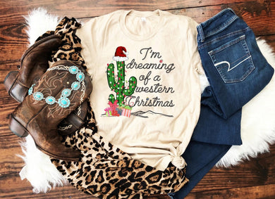 PREORDER-I'm Dreaming Of A Western Christmas Boutique Soft Tee-