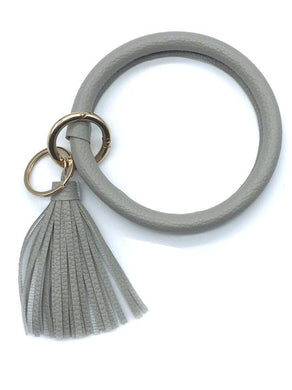 Light Grey Wristlet Keyring Bangle Bracelet
