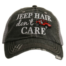 Load image into Gallery viewer, Katydid Jeep Hair Don't Care Embroidered Trucker Hat