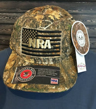 Load image into Gallery viewer, NRA Logo USA American Flag Realtree® EDGE Hunting Camo Camouflage Cap Hat