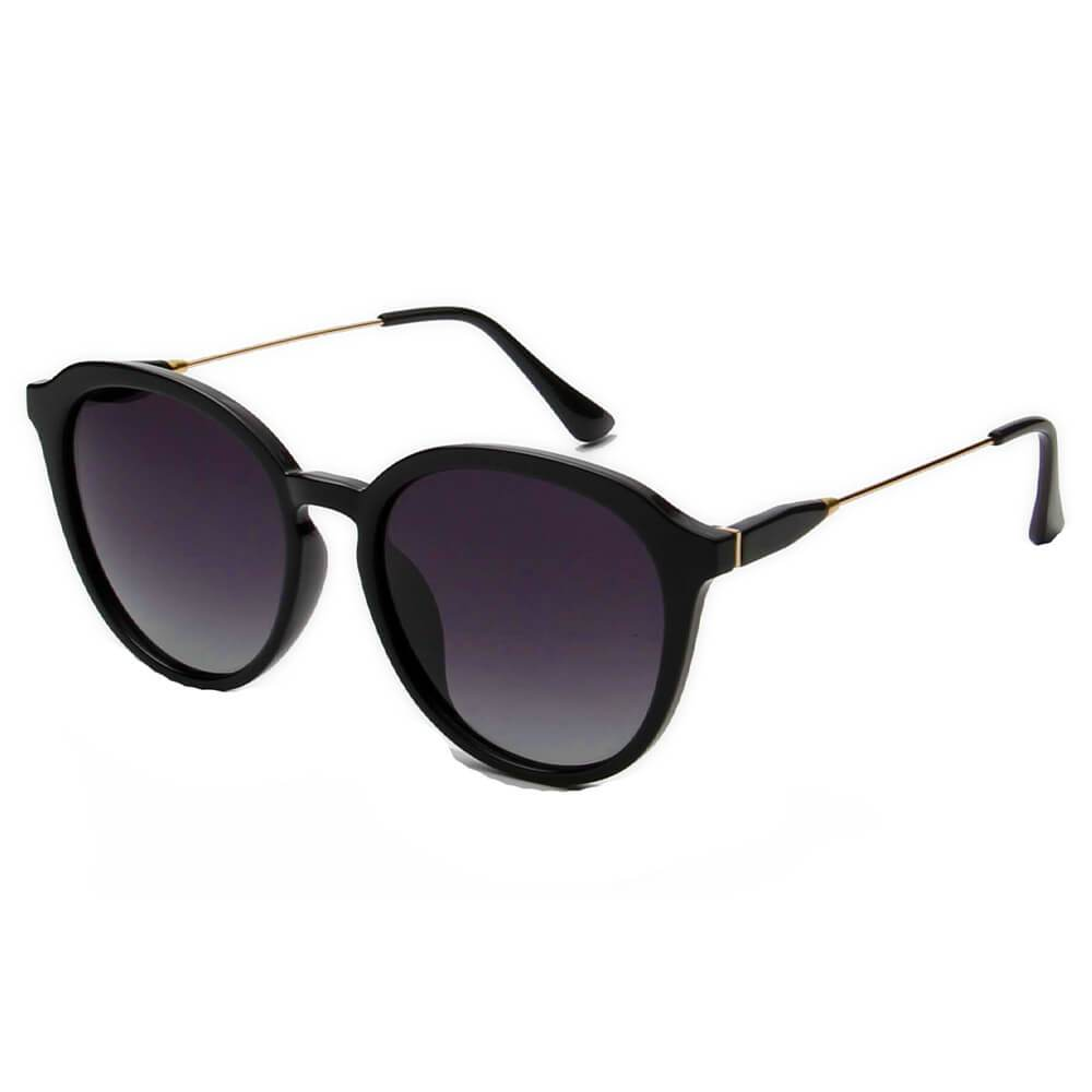 Womens Round Horn Rimmed Retro Polarized Fashion Sunglasses -4 Colors - 1963