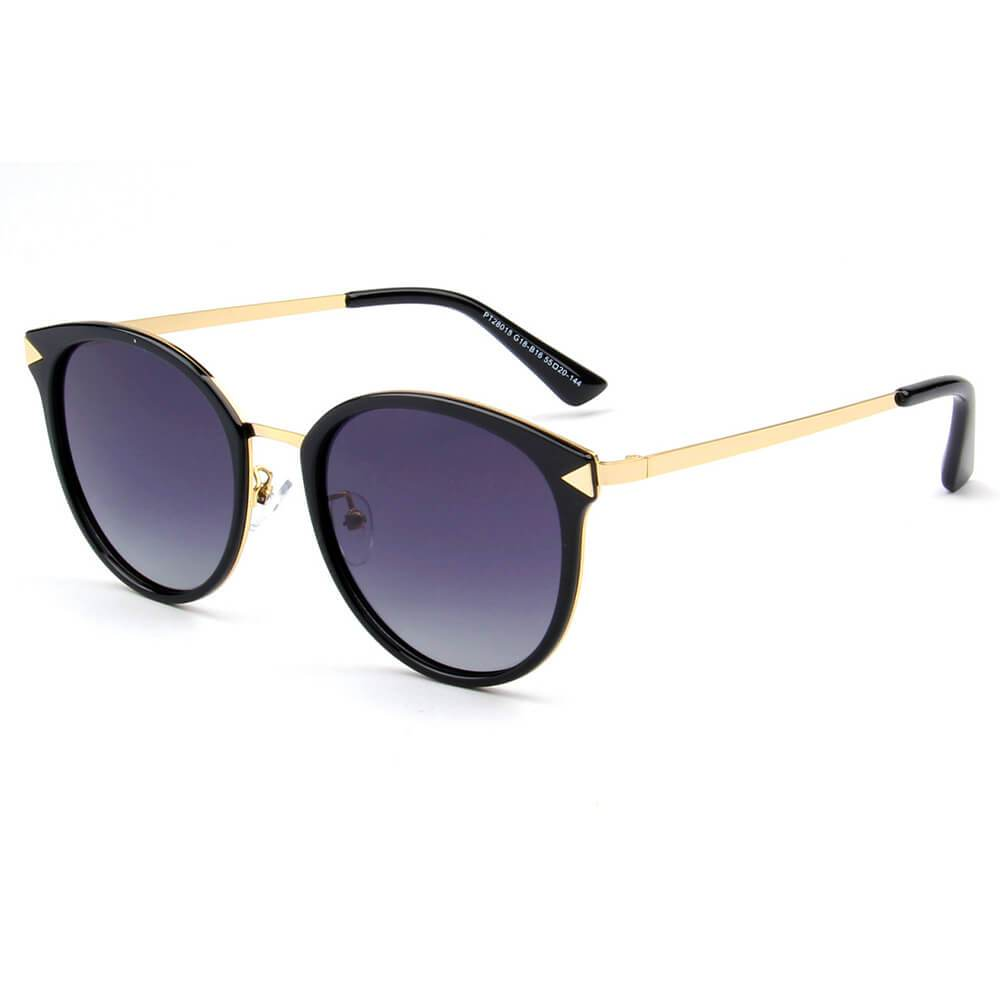 Womens Premium Polarized Round Fashion Sunglasses - Asst. Colors  - 018