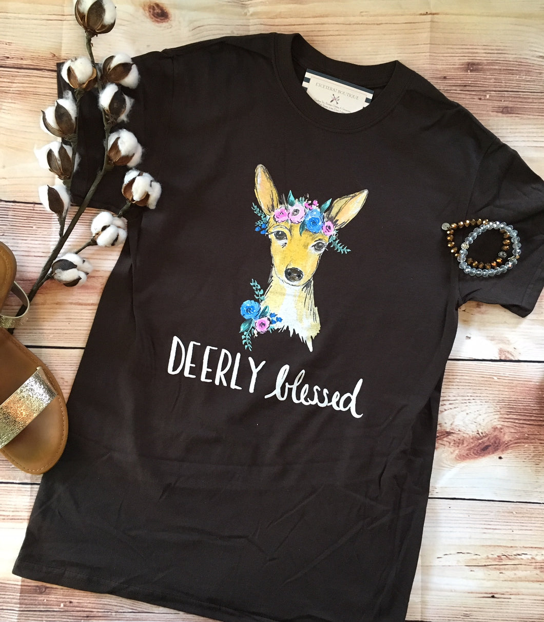 Deerly Blessed Tee - Southern Couture