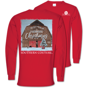 Dreaming Of A Farmhouse Christmas Tee - Long Sleeve