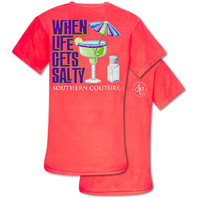 PREORDER - When Life Gets Salty SS Comfort Colors Garment Dyed Tee