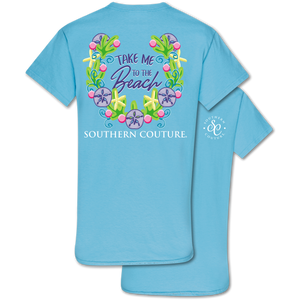 PREORDER - Take Me To The Beach Summer SS Tee - Sky Blue