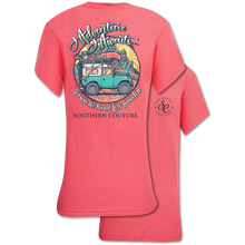 Load image into Gallery viewer, PREORDER Adventure Awaits Off-Road Camping SS Tee - Coral Silk