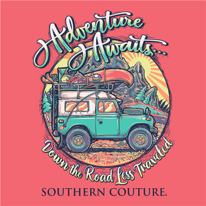 PREORDER Adventure Awaits Off-Road Camping SS Tee - Coral Silk