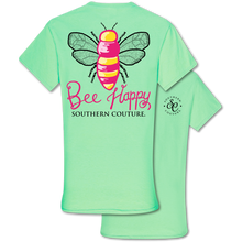 Load image into Gallery viewer, PREORDER Bee Happy SS Tee - Mint Green