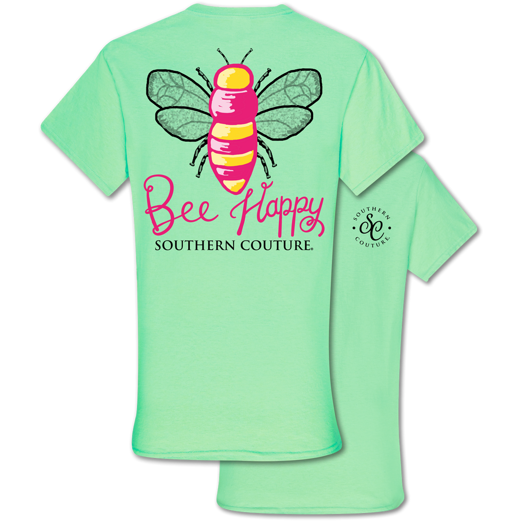 PREORDER Bee Happy SS Tee - Mint Green