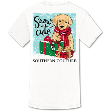 PREORDER-NEW Christmas Snow Cute Puppy Comfort Colors SS Tee