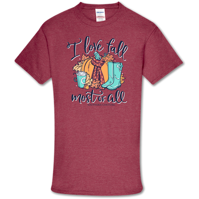PREORDER-I Love Fall Most Of All Soft Tee by Southern Couture