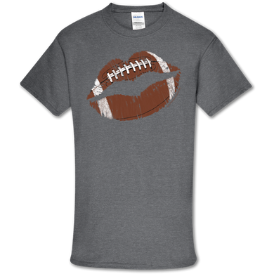 PREORDER-Football Lips Soft Tee by Southern Couture