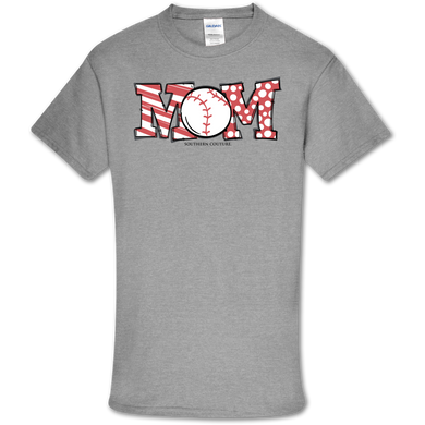 PREORDER - Baseball Mom SS Softstyle Tee by Southern Couture