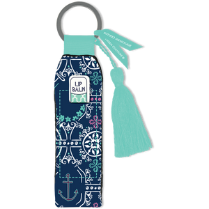 Southern Couture Keychain Lip Balm Holder - Anchor