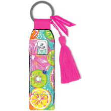 Load image into Gallery viewer, Southern Couture Keychain Lip Balm Holder - Citrus Fruit