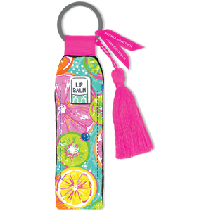 Southern Couture Keychain Lip Balm Holder - Citrus Fruit