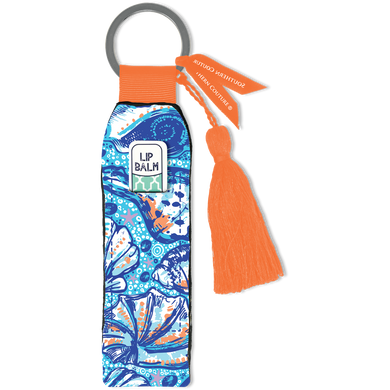 Southern Couture Keychain Lip Balm Holder - Seashell