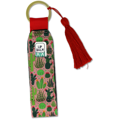 Southern Couture Keychain Lip Balm Holder - Cactus