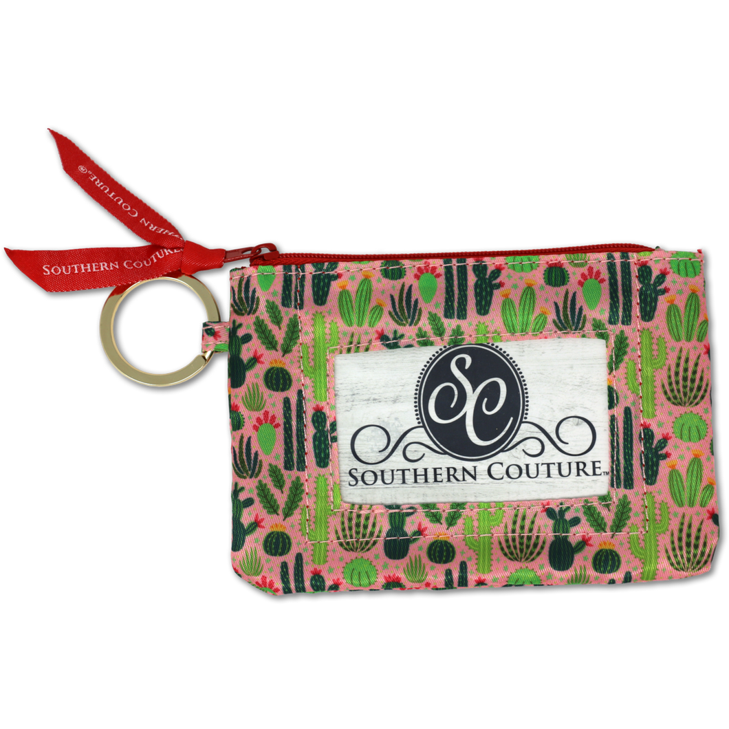 Cactus ID Wallet with Keyring by Southern Couture