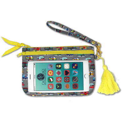 PREORDER Phone Wristlets with Tassel by Southern Couture - Vintage Campers