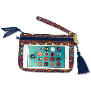 Phone Wristlets with Tassel by Southern Couture - Leopard Aztec