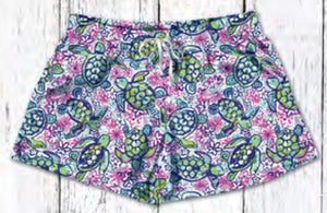 Southern Couture Lounge Shorts - Turtle