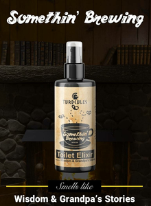 There's Somethin' Brewing Turdcules Toilet Elixir - Essential Oil Bathroom Spray