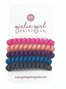 Telephone Cord Hair Ties - Matte Solid Colors - TC20