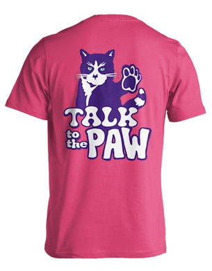 PREORDER Talk To The Paw SS Tee Shirt by Kittie Kittie Rescue