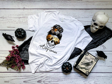 PREORDER - Witchy Woman Halloween Skull SS Boutique Soft Tee