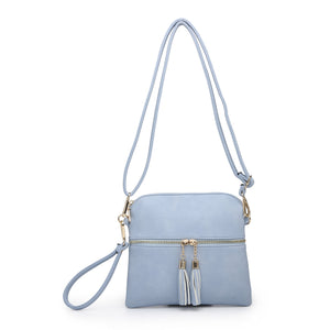 Tara Tassel Vegan Leather Crossbody Bag - Periwinkle