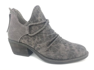 The Spartan Charcoal Grey Leopard Bootie